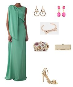 look boda noche vestido largo menta Bridesmaid Dresses, Prom Dresses, Special Occasion Outfits, Vintage Glamour, Red Carpet Dresses, Lovely Dresses, Green Dress, Evening Gowns, Party Dress