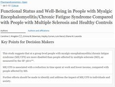 """Free full text: """"Functional Status and Well-Being in People with #MyalgicEncephalomyelitis/#ChronicFatigueSyndrome Compared with People with Multiple Sclerosis & Healthy Controls"""" (March 2018)  https://link.springer.com/article/10.1007%2Fs41669-018-0071-6  #MEcfs #CFS"""