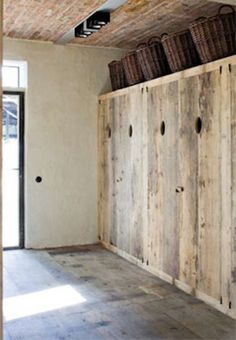 04 - Restored farmhouse by Architect Bernard de Clerck, image via Corvelyn… Pallet Wardrobe, Restored Farmhouse, Cupboard Storage, Cupboard Doors, Home And Deco, House Layouts, Rustic Interiors, Design Interiors, Modern Rustic