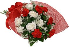 red carnations flowers bouquet - Google Search