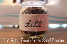 DIY Baby Food Jar to Seed Starter