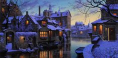 Twilight in Brugge > by Evgeny Lushpin, via: lushpin.com