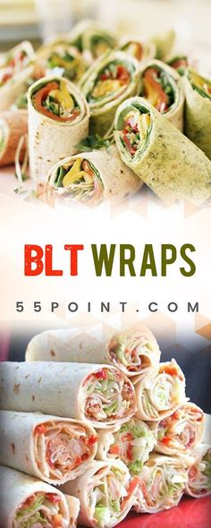BLT WRAPS OMG! This is DELICIOUS !
