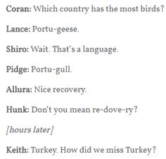 How...how DID you miss Turkey?<< HOW DO CORAN AND ALLURA KNOW WHAT A CONTRY IS, AND HOW DOES ALLURA KNOW ABOUT PORTUGAL AND CORAN ABOUT TURKEY????
