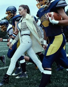 """#sportsluxe #football """"Anarchic"""" by Lise-Anne Marsal for Madame Figaro France August 2015"""