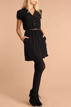 Belted, pockets, and tights.  So much goodness!