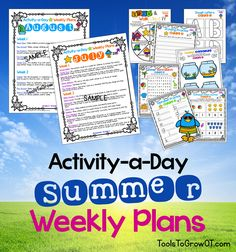 Activity-a-Day Summer Calendar and detailed Weekly Plans!