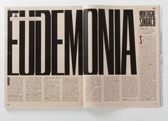 "Il Rane ""Eudemonia"" via InspirationHut #b&w #talltype #text-based-page"