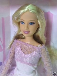 2006-BARBIE-FASHION-FEVER-DOLL-PINK-LAYERED-KNITS-NRFB