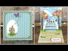 Karen Burniston Pop it Ups Designer Challenge - Spring & Easter Cards - I am not left-handed
