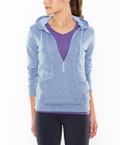 Lucy active wear on sale! Take a look at this Lavender Heather Sexy Sweat Half-Zip Hoodie on zulily today!