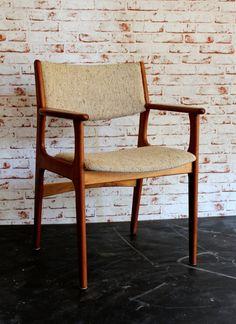 50er Jahre Teak Lehnenstühle O. D. Møbler Stuhl Stühle