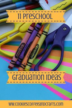 Here are 11 preschool graduation ideas to create and plan a preschool graduation for your little one. Create and celebrate this wonderful memory. Preschool Graduation Gifts, Pre K Graduation, Graduation Party Themes, Graduation Banner, Pta School, School Daze, Preschool Themes, Preschool Projects, Kids Crafts