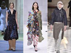 Sobreposições (Balenciaga, Céline, Vetements) - Outra tendência que segue firme e forte é a de sobrepor camisa, calça, vestido, tudo junto, ao mesmo tempo