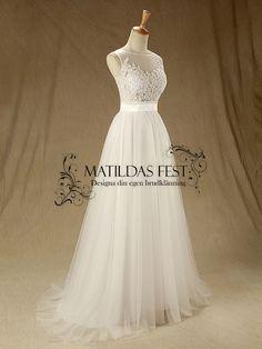 Billig brudklänning, balklänning, bröllopsklänning & festklänning i Stockholm,bromma Matildas fest - Jamie Collection 88076
