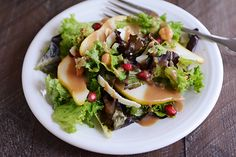 Autumn Pear Salad with Maple Balsamic Dressing | Mel's Kitchen Cafe