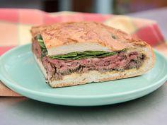 Ultimate Steak and Mushroom Shooter Sandwich recipe from Jeff Mauro via Food Network