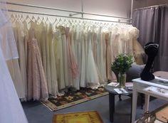 Bridal Dress Rails By Upcycle Interiors ltd - 6 Reinforced Concrete, Hanging Rail, Galvanized Metal, Bridal Boutique, Wardrobe Rack, Bridal Dresses, Upcycle, Interiors, Flooring