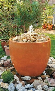 Gartenbrunnen selber machen wasserspiele aus for Goldfischteich bauen
