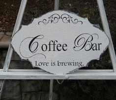 COFFEE BAR Wedding Sign Table Sign Wedding Decor by PucoBesh, $21.00