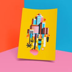 Inspiring trends from Barcelona: Vivid Mediterranean colours // Illustration by Lorena G Vivid Colors, Colours, Beautiful Drawings, Typography Prints, Design Show, Graphic Design Illustration, Graphic Design Inspiration, Color Themes, Creations
