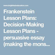 Frankenstein sympathy essay