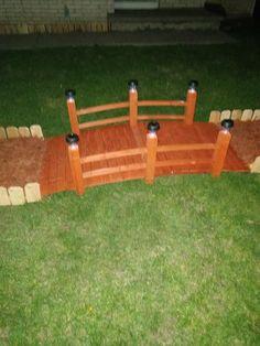 Decorative Wood Bridge with Lighting Essentials Solar Lights — 5ft. Garden Edger, Wood Bridge, Solar Lights, Garden Bridge, More Fun, Orange Color, Outdoor Living, Essentials, Things To Come