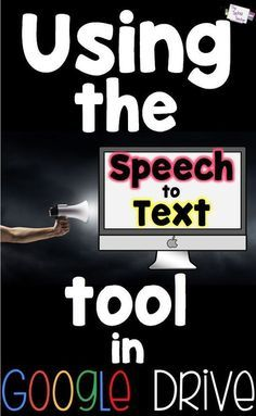 The Speech to Text tool in Google Drive is a life saver for struggling writers/typers (and their teachers)