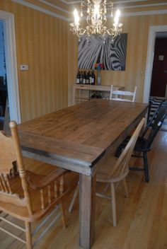 Farm table benches and chairs in reclaimed wood barn for Domesticated engineer table