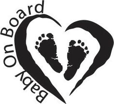 Way better then those suction cup things!! cute little feet!!!  Baby On Board Car Decal by BGDECALS on Etsy, $7.00