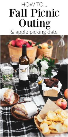 Grab a date and head out to an apple orchard for a fall picnic with these ideas. When it comes to packing a picnic I've got you covered with food suggestions, travel tips, and a list of exactly what to bring. Get picnic ideas for 2 here! Breakfast Picnic, Picnic Dinner, Fall Picnic, Picnic Date, Autumn Picnic Recipes, Picnic Parties, Beach Picnic, Summer Picnic, Dinner Parties