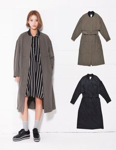LAP Womens SHIBORI EMBROIDERY TRENCH 2 Colors Size S, M (AF4WC860) #LAP #TRENCHCoat
