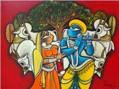 Vrinda Raj Painting.