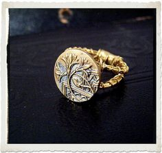 Antique Button Jewelry - Ring
