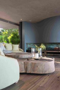Created by the architecture firm SAOTA, ZA Beachyhead Villa is a beautiful Modern holiday house situated in Plettenberg Bay, South Africa. Home Interior Design, Interior Architecture, Interior Decorating, Modern Interior, Beautiful Home Designs, Beautiful Homes, Wooden Facade, Home Fireplace, Fireplaces