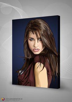 Sensuous sexy Scanner Darkly style portrait