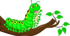 Cute caterpillar waving cartoon Stock Images