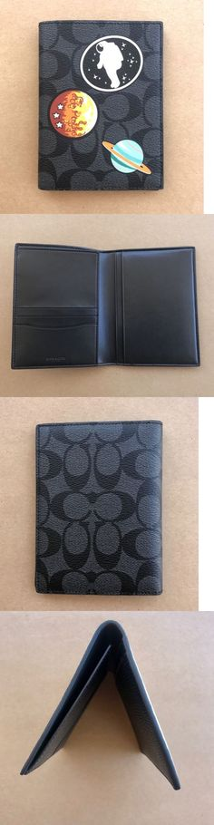 Id and document holders 169271 coach bifold business card holder id and document holders 169271 coach x nasa men s saturn apollo signature passport holder reheart Image collections
