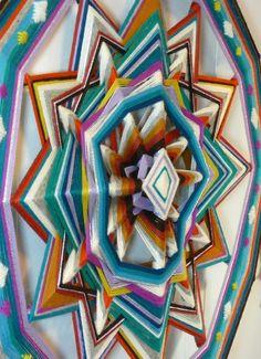 Diamond Sky a 24 inch wool yarn Ojo de Dios by custom