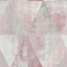 Hyde Park wallpaper from Rasch. A screen printed effect design in muted pink and grey tones gives this geometric design a modern twist. Geometric Wallpaper Metallic, Pink And Grey Wallpaper, Luxury Wallpaper, Modern Wallpaper, Room Wallpaper, Colorful Wallpaper, Wallpaper Roll, Buy Wallpaper Online, Wallpaper Samples