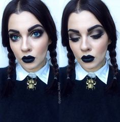 2,312 Followers, 519 Following, 334 Posts - See Instagram photos and videos from Laura (@palerose_beauty) Wednesday Addams Costume Makeup, Wednesday Adams Costume, Make Up Looks, Scary Halloween Costumes, Halloween Makeup Looks, Fantasia Disney, Halloween Disfraces, Videos, Beauty