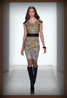 """Take a walk on the wild side with our """"Wildcat"""" dress. http://www.etcetera.com/collections/holiday2012/lookbook/"""