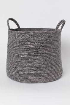 Storage Basket with Handles - Gray/natural white - | H&M US 1