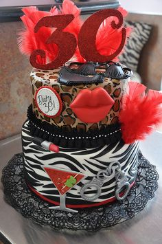 Dirty Thirty Cake Birthday Girls 30th Cakes