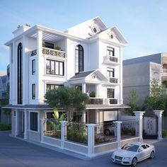 Classic House Exterior, Classic House Design, Dream House Exterior, Modern House Design, Bungalow House Design, House Front Design, Duplex House Plans, Dream House Plans, Bungalows