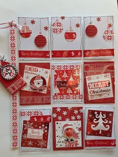 Red Christmas pocket letter