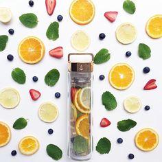 Orange, Mint, Lemon, Blueberry & Strawberry #perfection via @hellomissmay