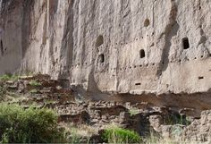 Anasazi Ruins at Bandelier National Monument in New Mexico