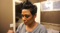 Hairstyles Medium Hair Best Picture For cute short black hairstyles For Your Taste You are looking f Cute Short Black Hairstyles, Black Pixie Haircut, Short Relaxed Hairstyles, Short Pixie Haircuts, Short Hairstyles For Women, Short Hair Cuts, Butch Haircuts, Black Pixie Cut, Diy Hairstyles