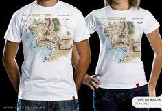 R$49.00 Catálogo - Camiseta Terra Média - Camisetas Red Bug